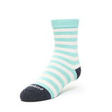 Kids Socks - Abbey Stripes - Teal⎪Etiquette Clothiers