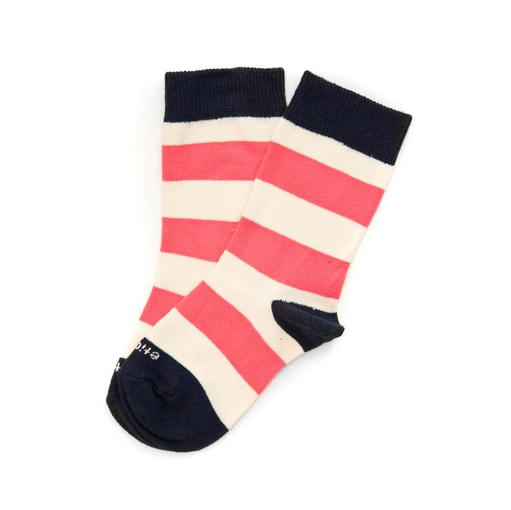 Kids Socks - Rugby Stripe - Pink Elephant⎪Etiquette Clothiers