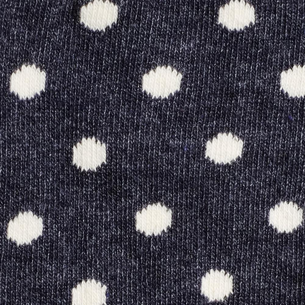 Kids Socks - Polka Spots - Vintage Blue Heather⎪Etiquette Clothiers
