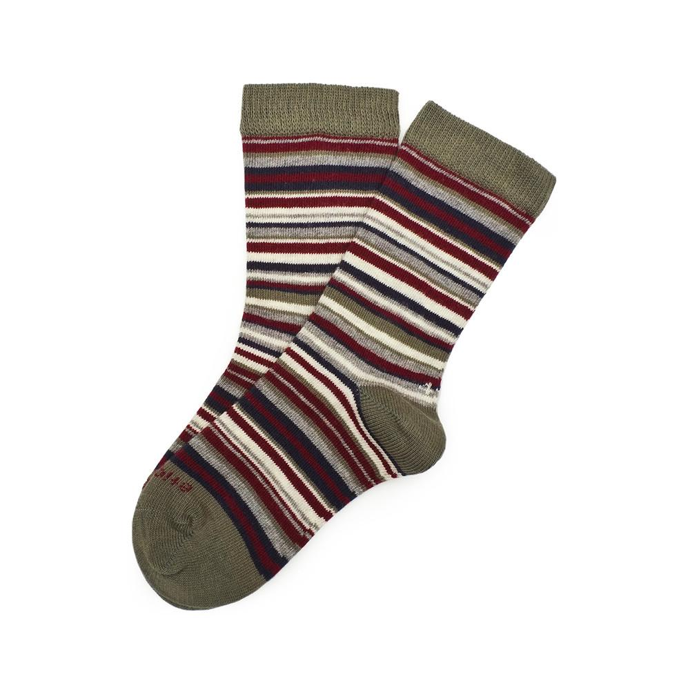 Kids Socks - Sirpol - Olive Green⎪Etiquette Clothiers