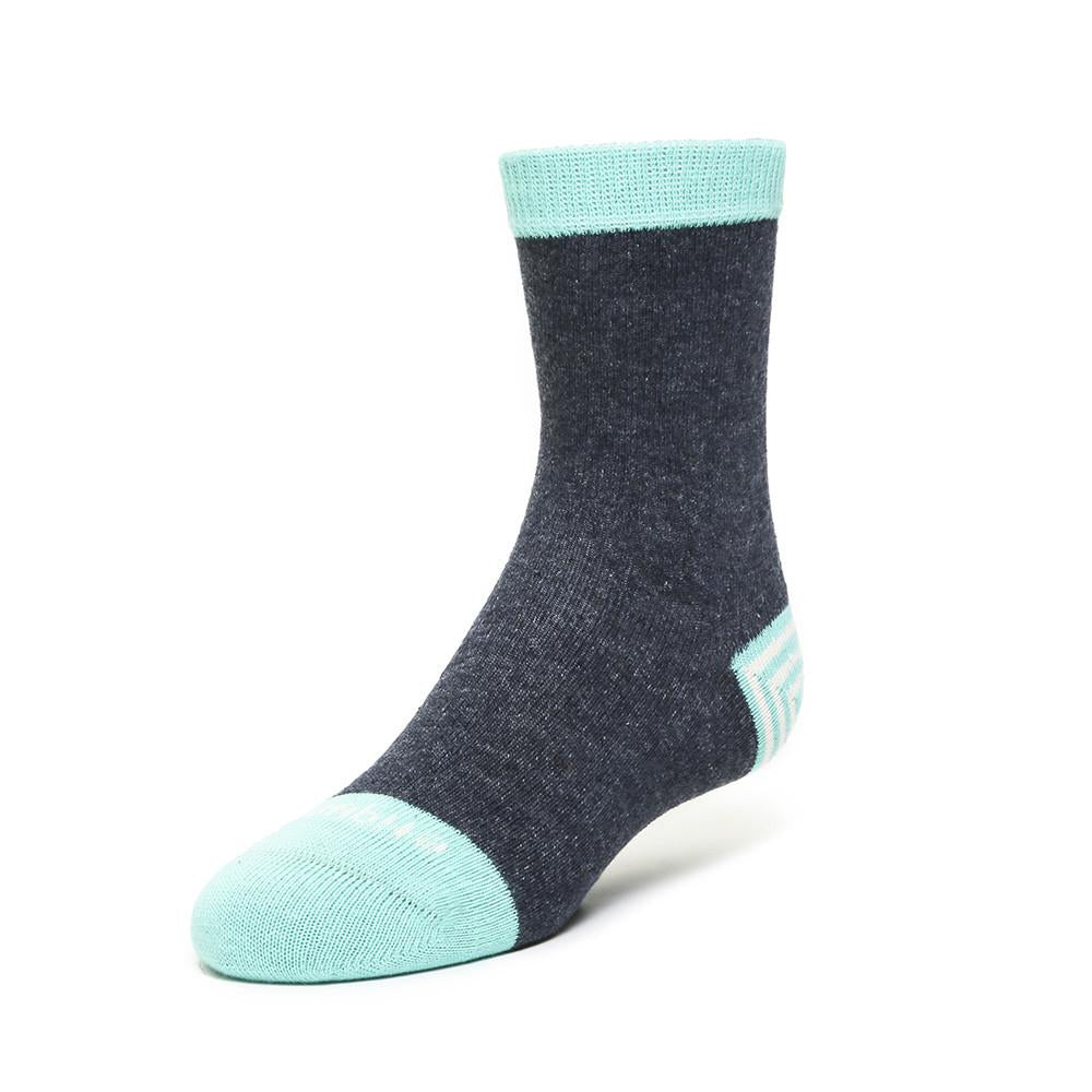 Kids Socks - Tri Pop - Charcoal Teal⎪Etiquette Clothiers