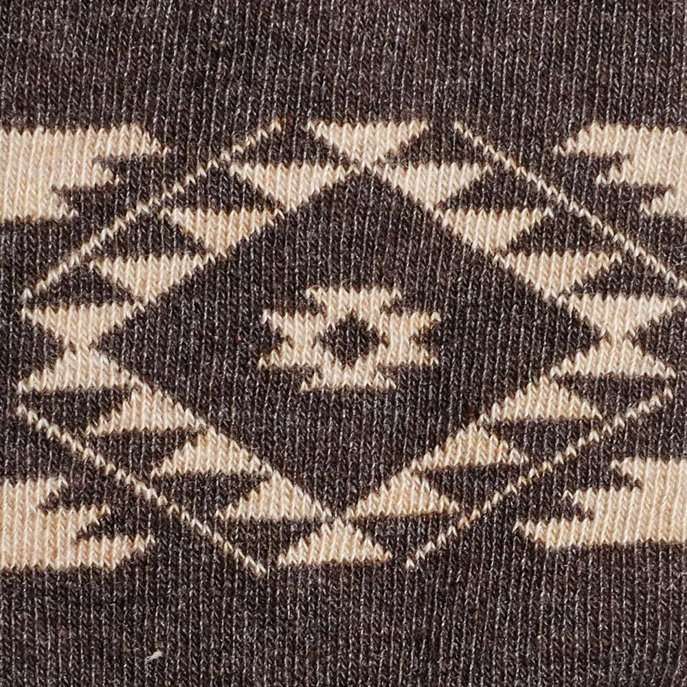 Kids Socks - Tribal - Vintage Brown Heather⎪Etiquette Clothiers