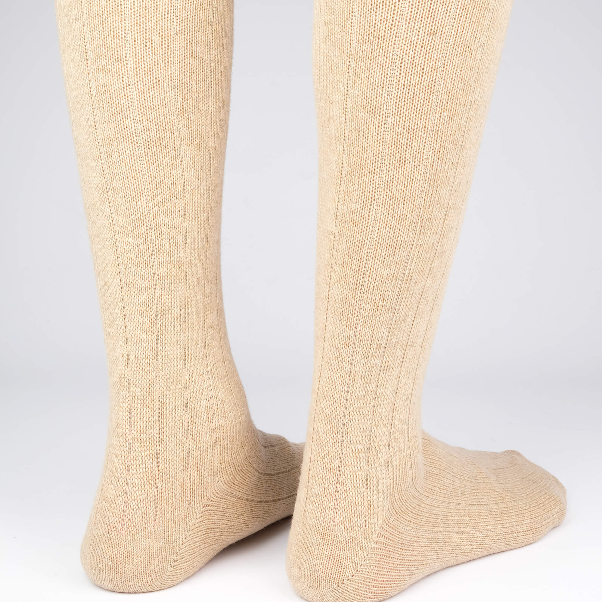 Cashmere Knee High Ribbed - Brown - Image 3