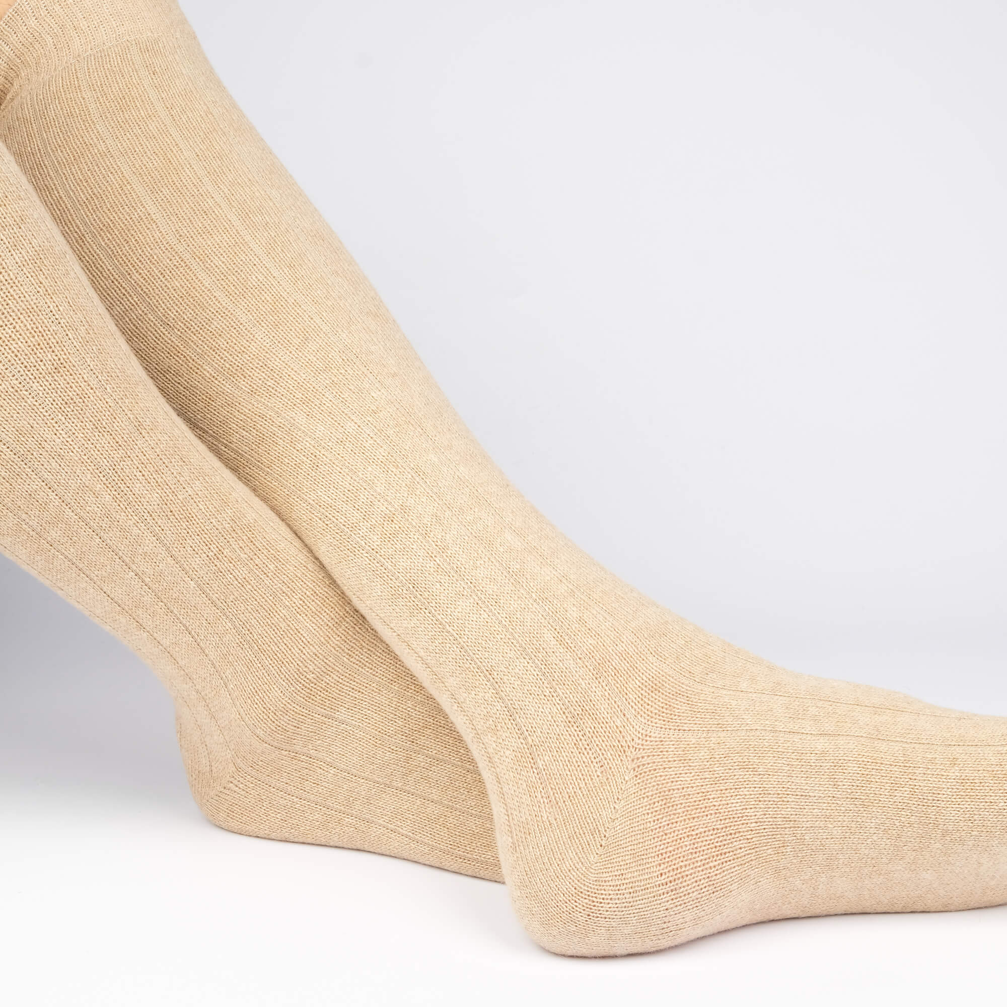 Cashmere Knee High Ribbed - Brown - Image 4