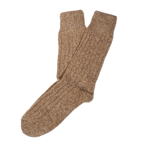 Cashmere Boot Ribbed Men's Socks