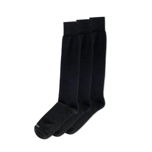 Knee High Ribbed Men's Dress Socks 3 Pack