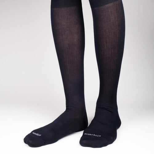 Basic Luxuries Knee High Ribbed  - Alt view