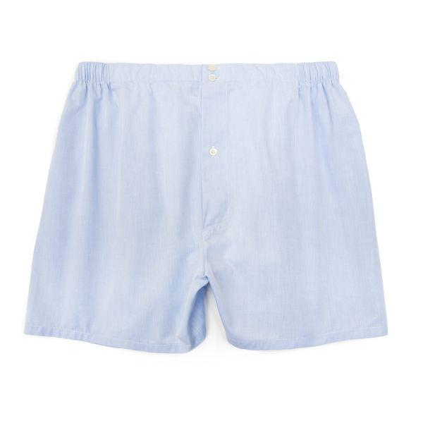 Mens Underwear - Men's Boxer Shorts - Light Blue⎪Etiquette Clothiers