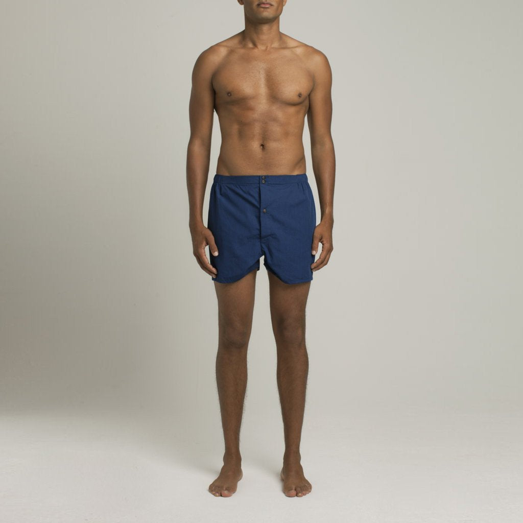 Luxury Boxer Shorts - Indigo Blue - Image 2
