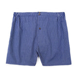Mens Underwear - Men's Boxer Shorts Checker - Dark Blue⎪Etiquette Clothiers