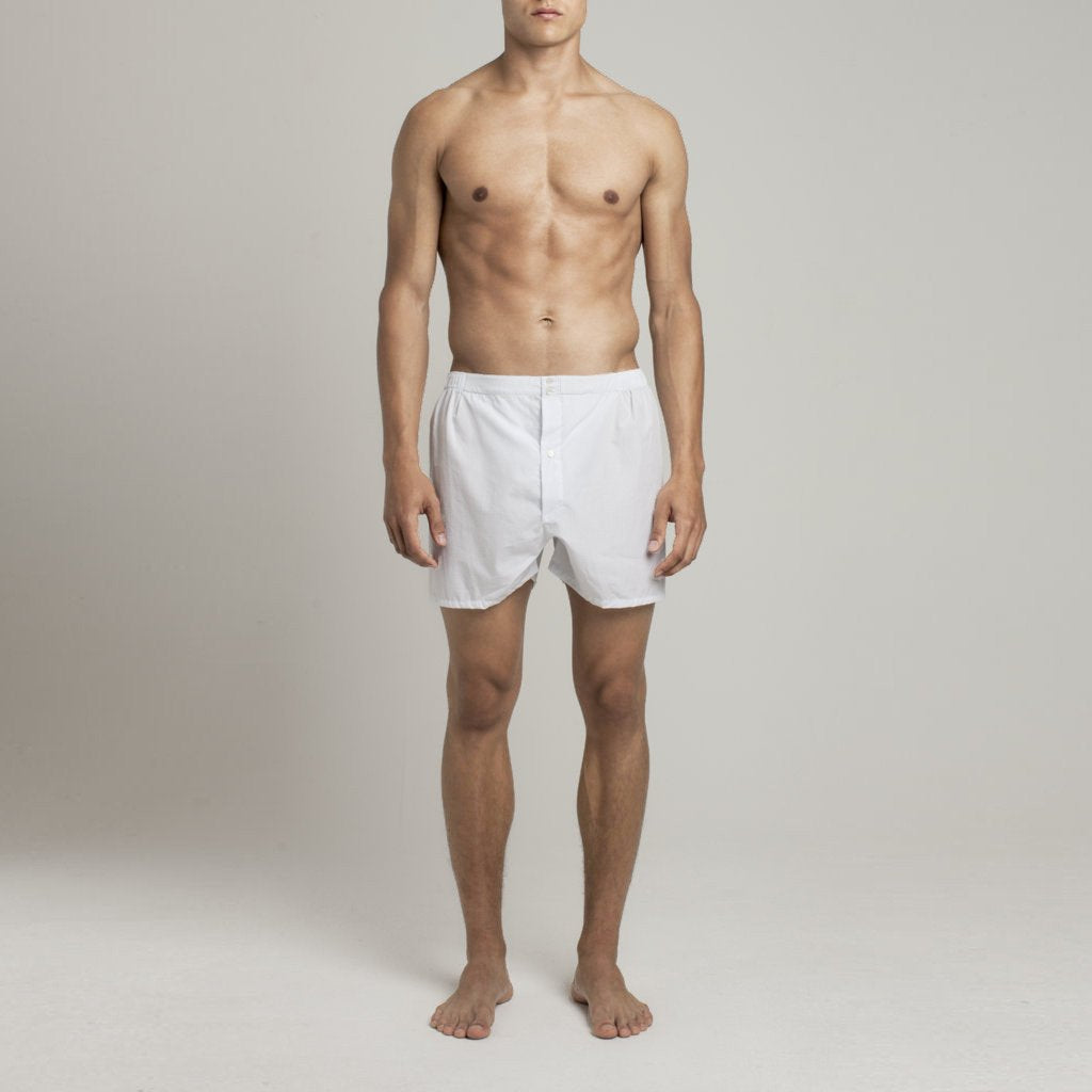 Mens Underwear - Men's Boxer Shorts Graph Check - Blue⎪Etiquette Clothiers