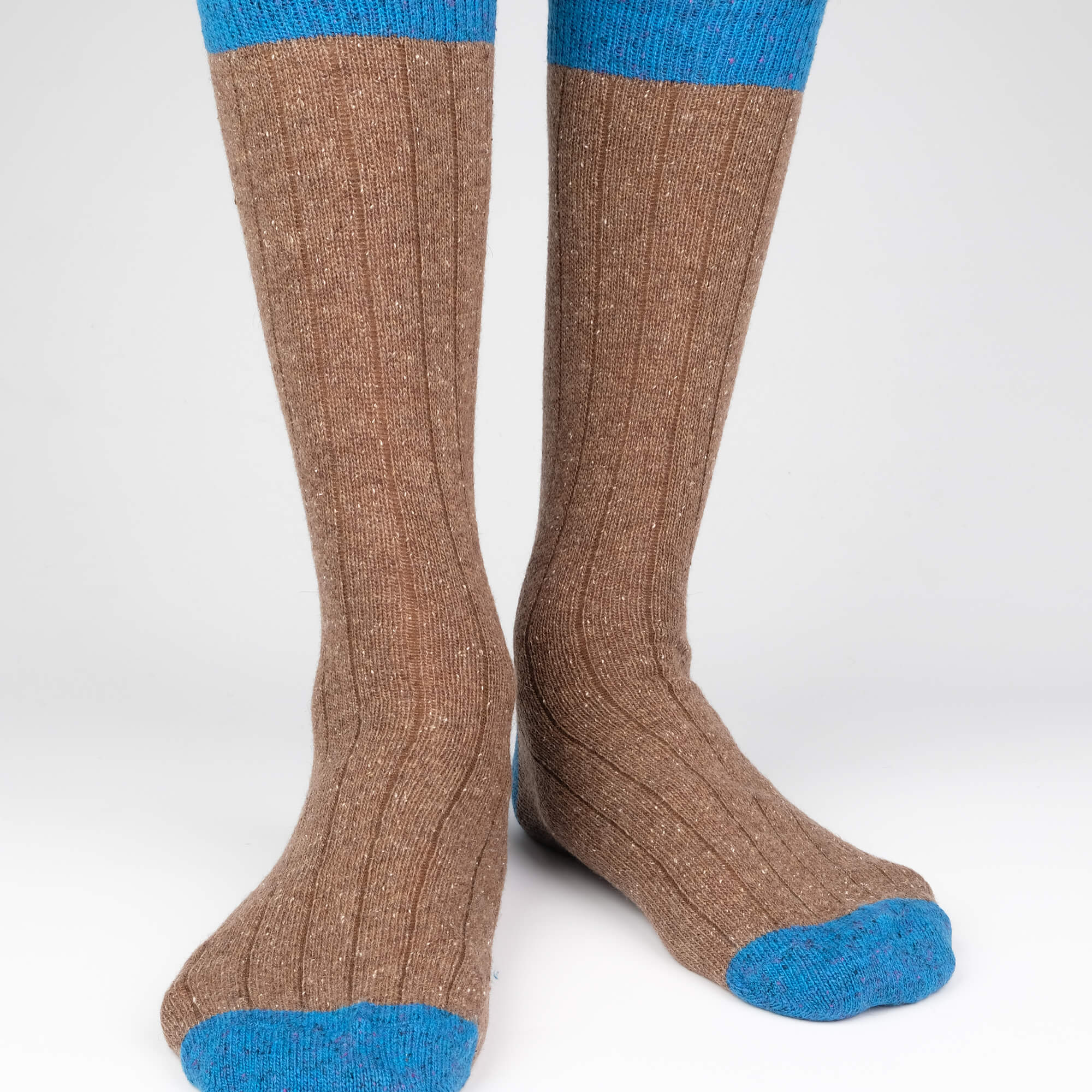 Mens Socks - Tweed Rib Men's Socks - Brown⎪Etiquette Clothiers