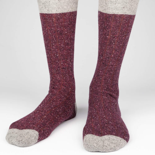 Tweed Rib Men's Socks  - Alt view