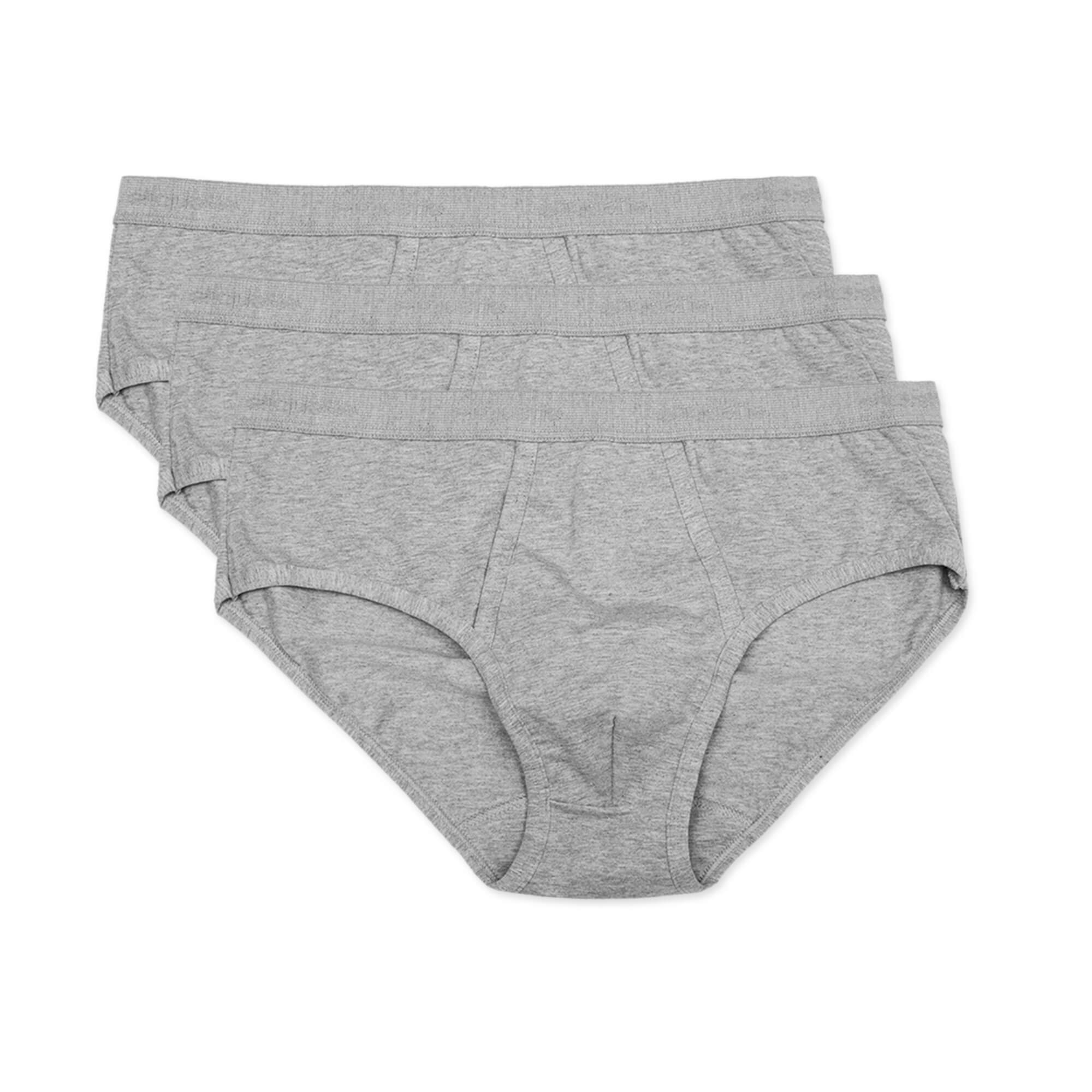 Mens Underwear - Men's Astor Briefs 3 Pack - Grey⎪Etiquette Clothiers