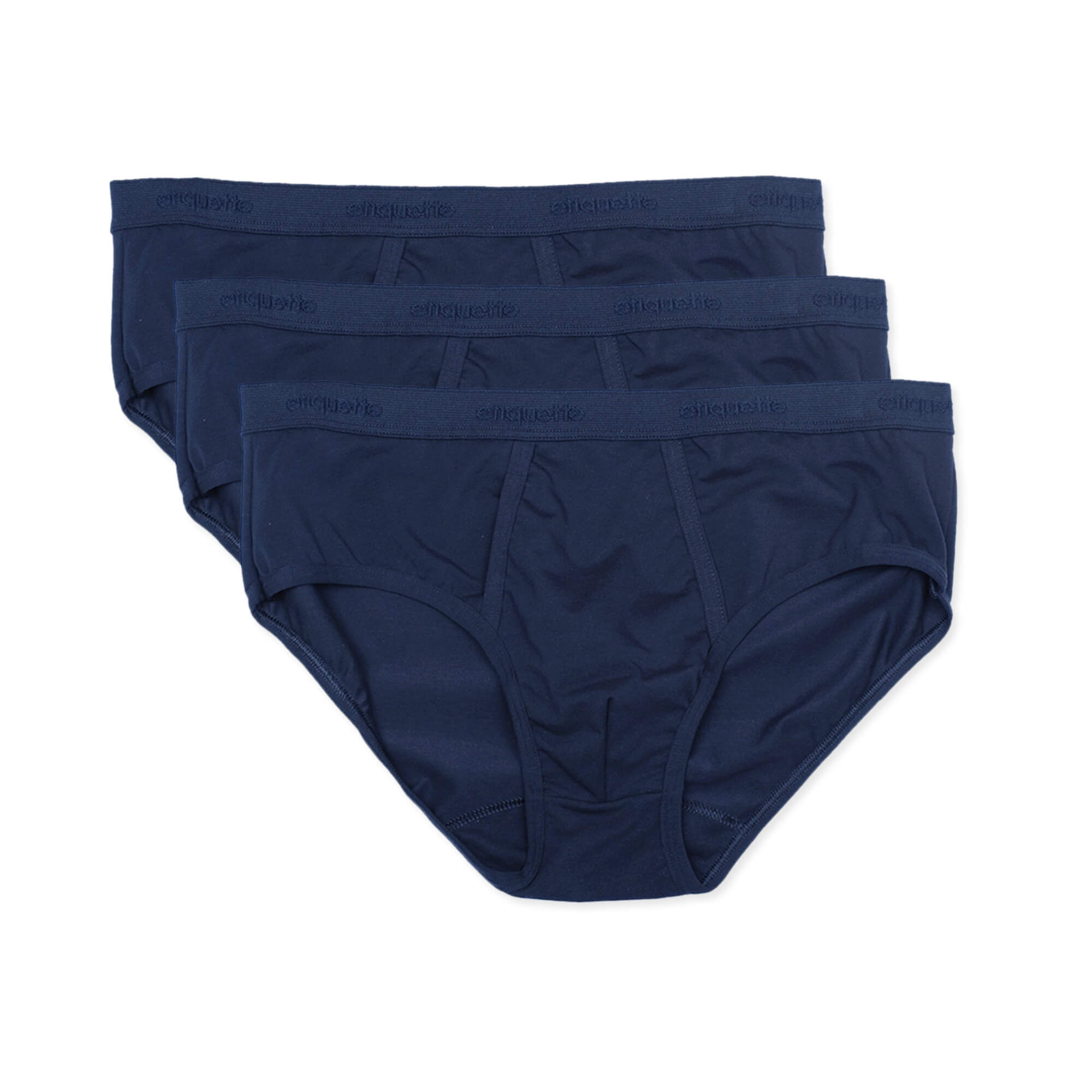 Mens Underwear - Men's Astor Briefs 3 Pack - Dark Blue⎪Etiquette Clothiers
