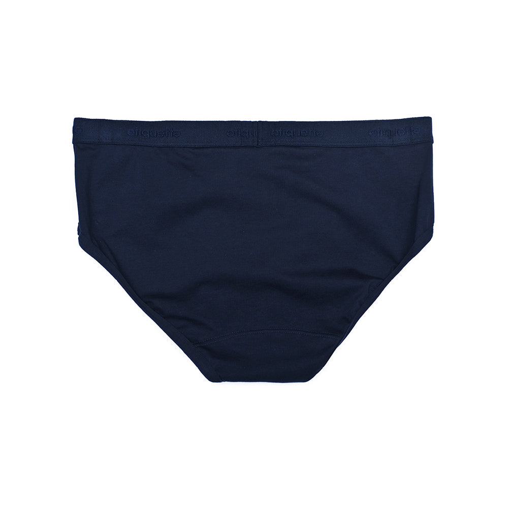 Mens Underwear - Men's Astor Briefs - Dark Blue⎪Etiquette Clothiers