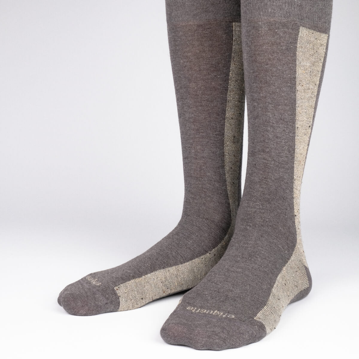 Mens Socks - Beat It Metallic Side Stripe - Dark Grey⎪Etiquette Clothiers