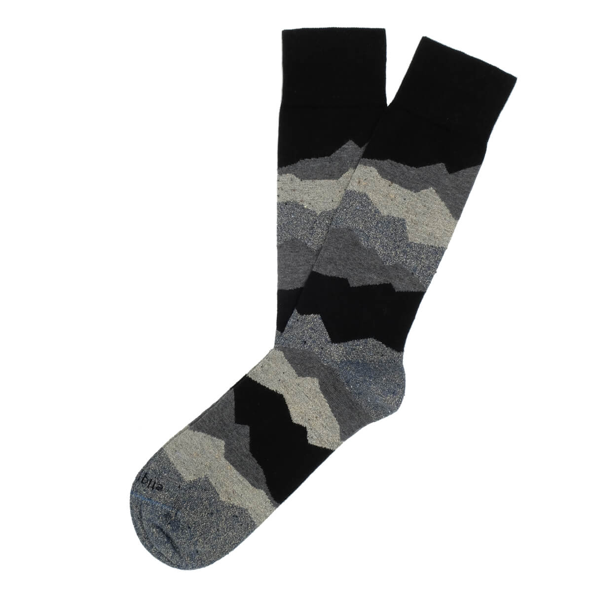 Mens Socks - Beat It Metallic Seismic Men's Socks - Black⎪Etiquette Clothiers
