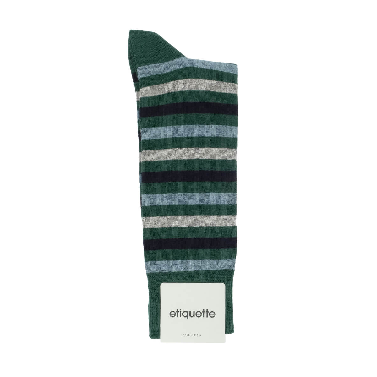 Mens Socks - Crosswalk Stripes Men's Socks - Green⎪Etiquette Clothiers