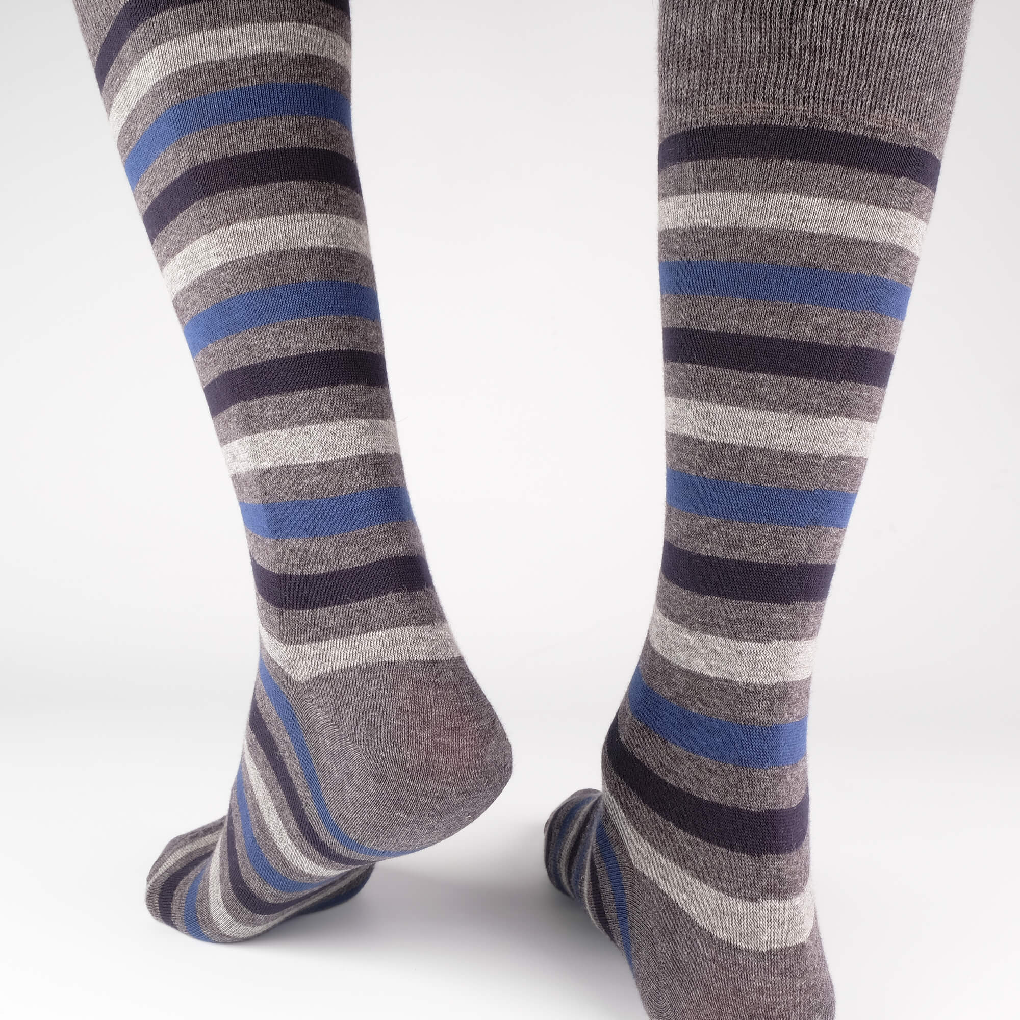 Mens Socks - Crosswalk Stripes Men's Socks - Grey⎪Etiquette Clothiers