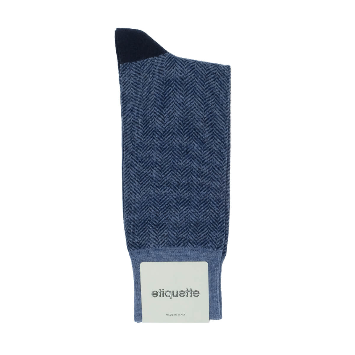Mens Socks - Herring With A Bone - Blue⎪Etiquette Clothiers