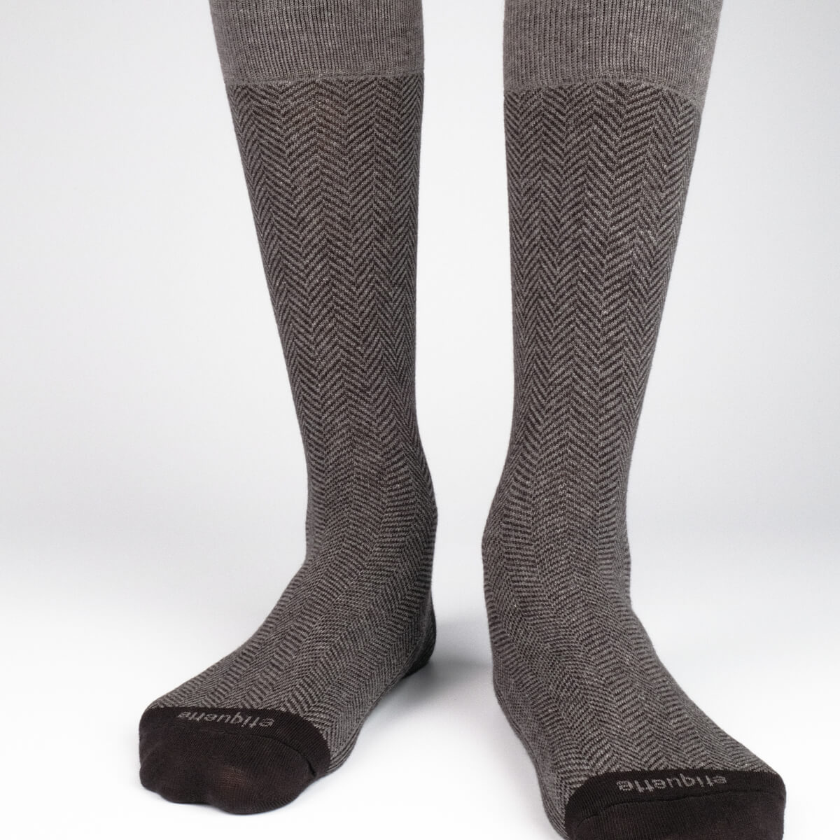 Mens Socks - Herring With A Bone - Grey⎪Etiquette Clothiers
