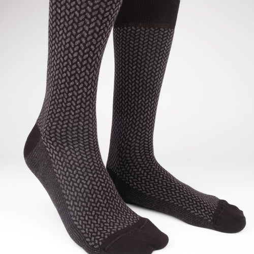 Herringbone Blocks Men's Socks  - Alt view