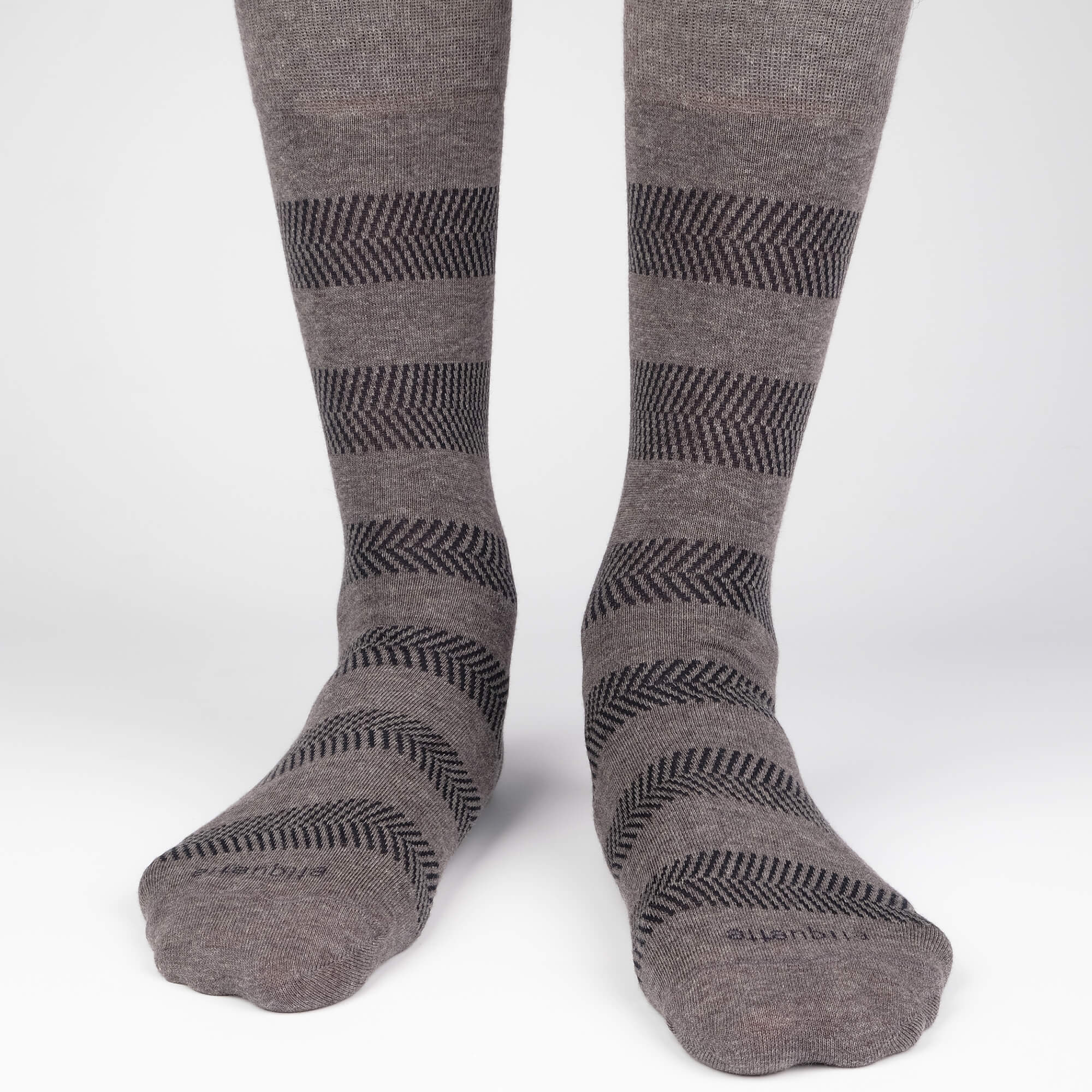 Mens Socks - Herringbone Men's Socks Gift Box - Grey⎪Etiquette Clothiers