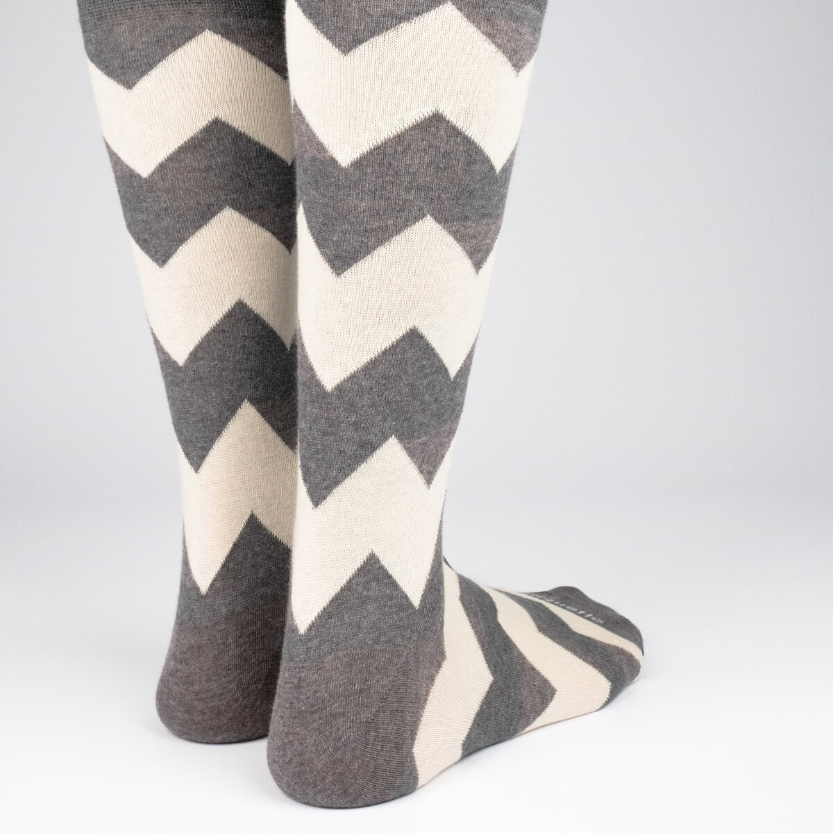 Mens Socks - Matterhorn Stripes Men's Socks - Dark Grey⎪Etiquette Clothiers