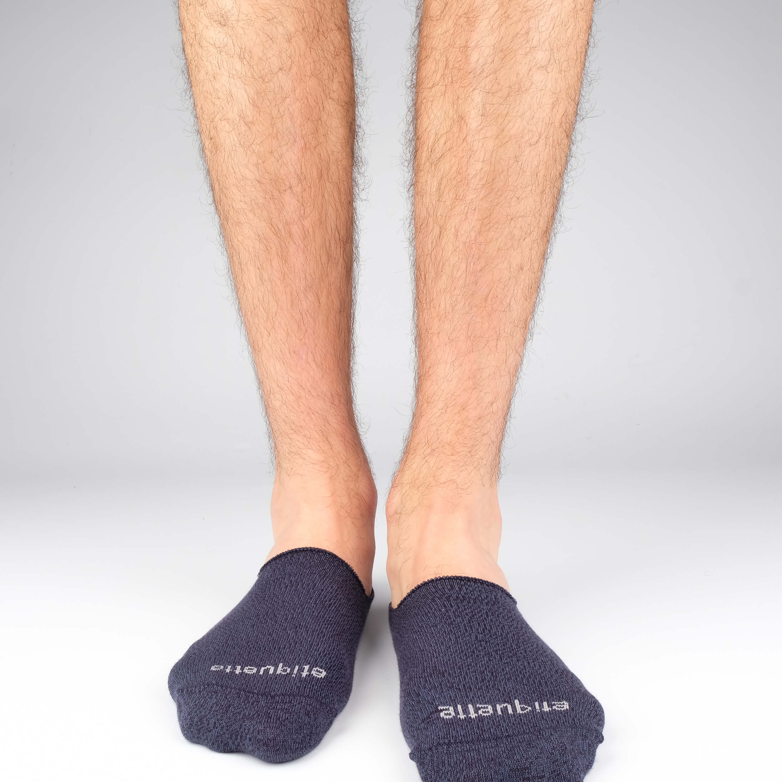 Mens Socks - Men's No Show Socks - Mouline Blue⎪Etiquette Clothiers