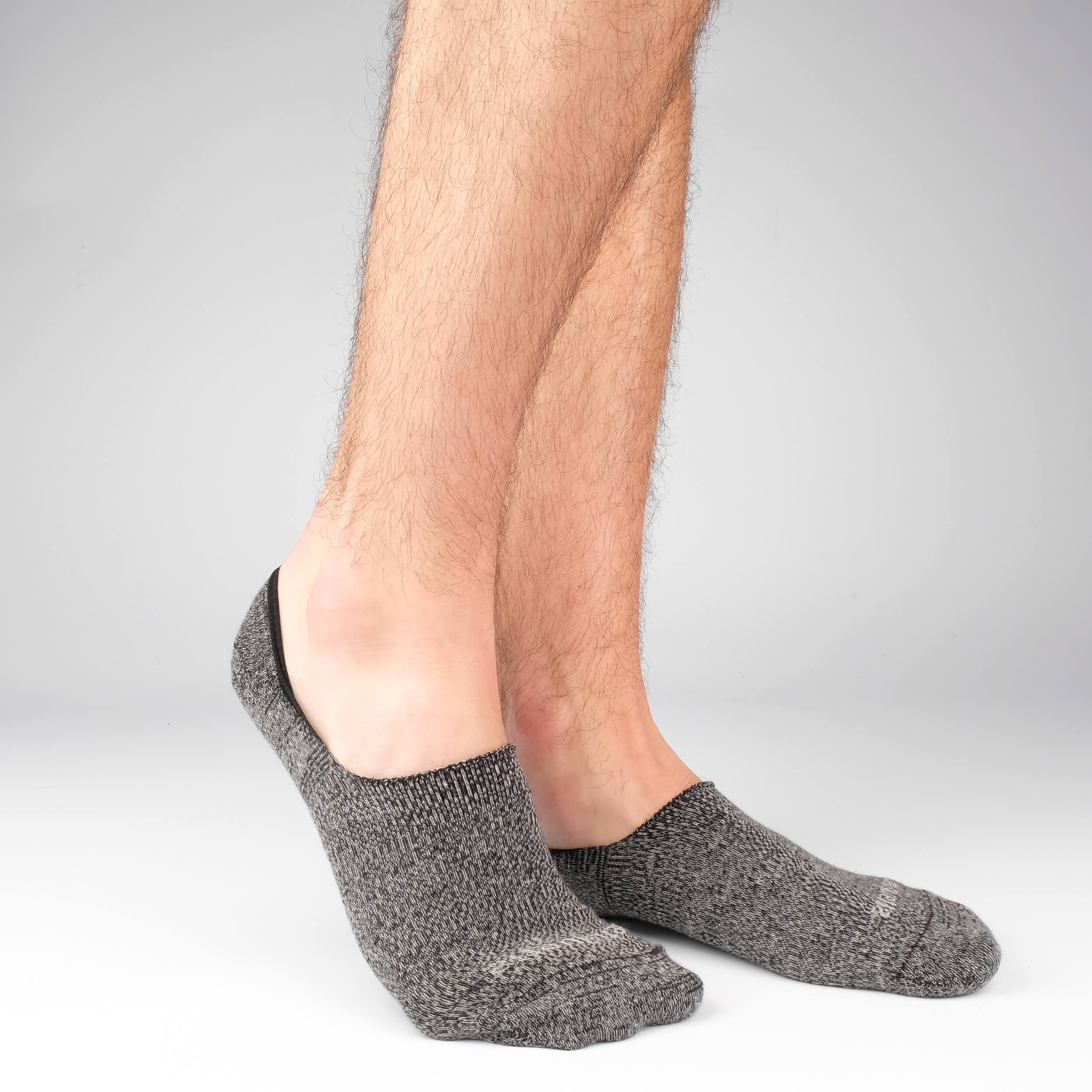 Mens Socks - Men's No Show Socks - Mouline Grey⎪Etiquette Clothiers