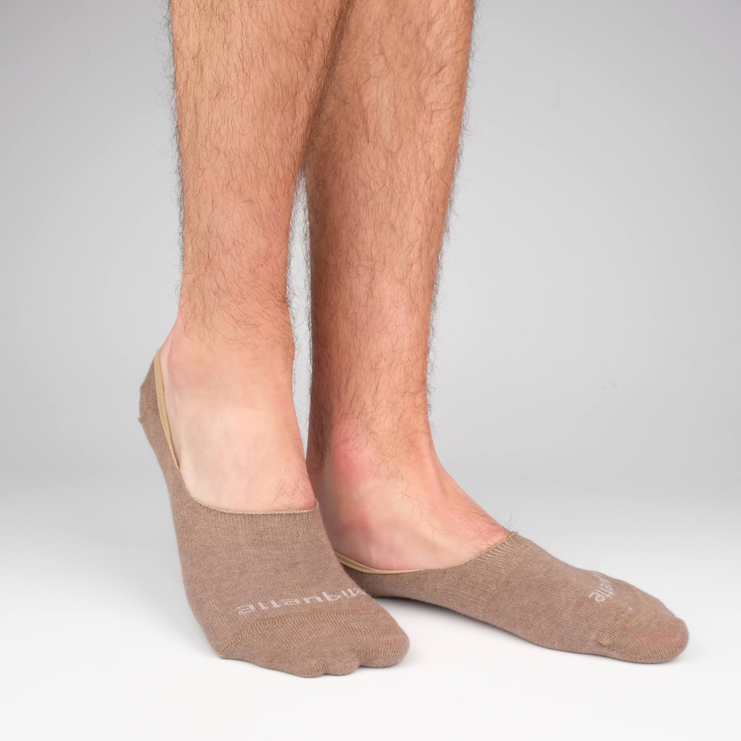 Mens Socks - Men's No Show Socks - Brown⎪Etiquette Clothiers