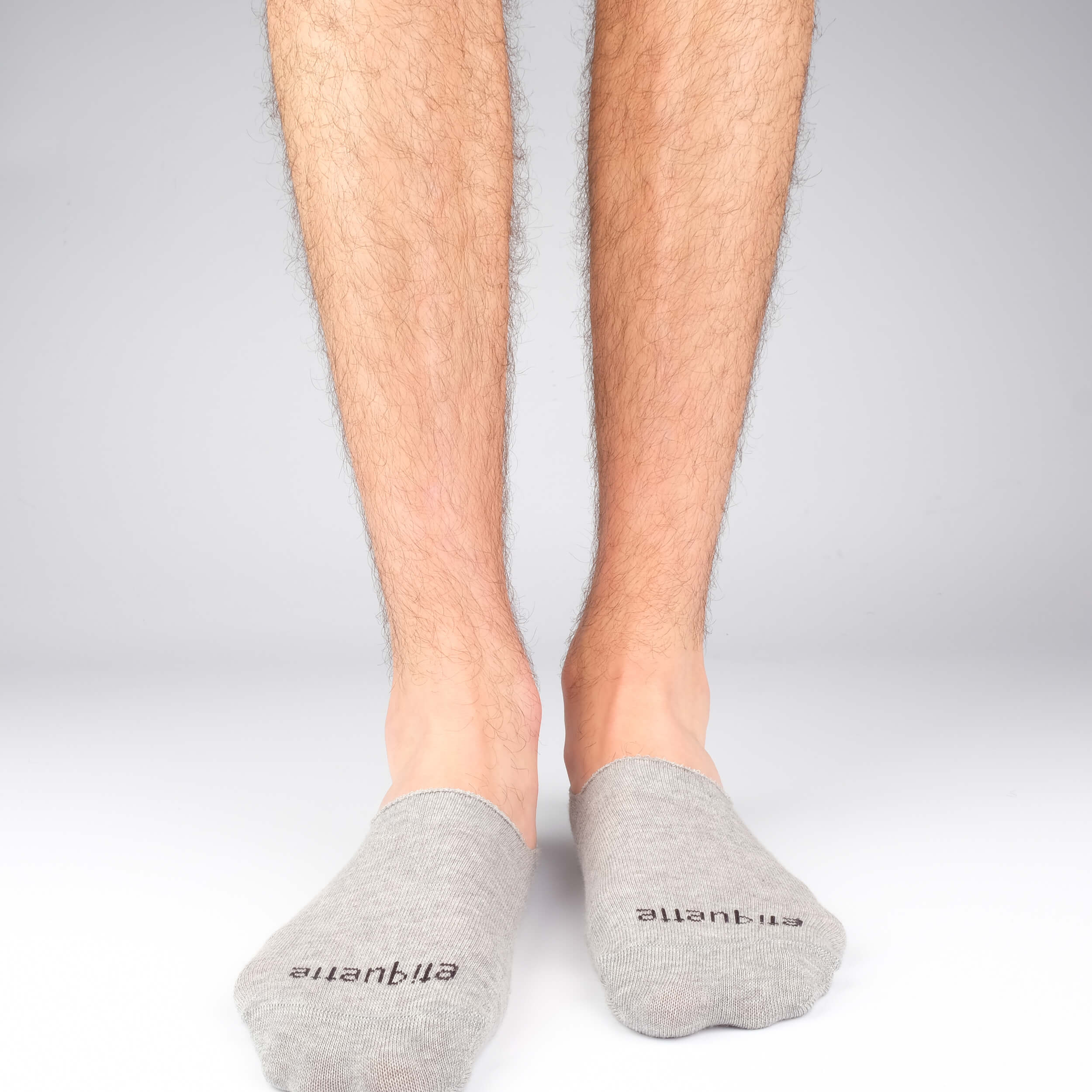 Mens Socks - Men's No Show Socks - Grey⎪Etiquette Clothiers