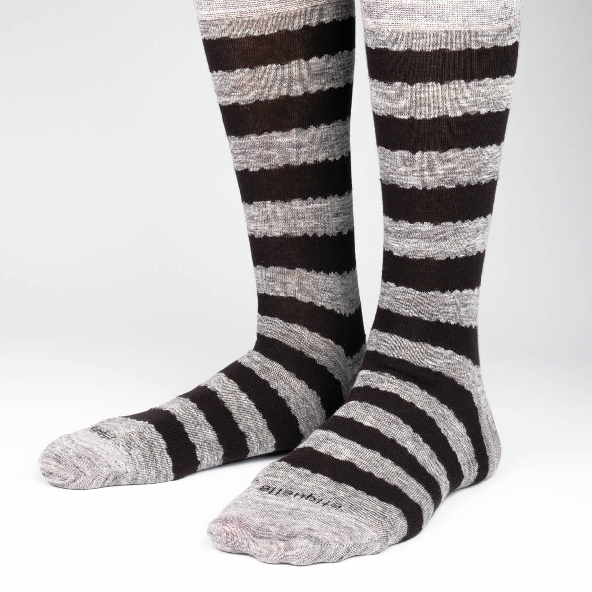 Mens Socks - All About Stripes Men's Socks Gift Box - Grey⎪Etiquette Clothiers