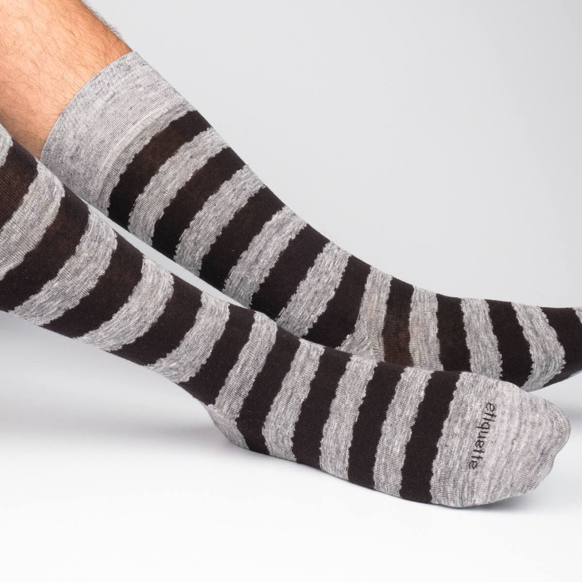 Mens Socks - Iona Stripes Men's Socks - Grey⎪Etiquette Clothiers