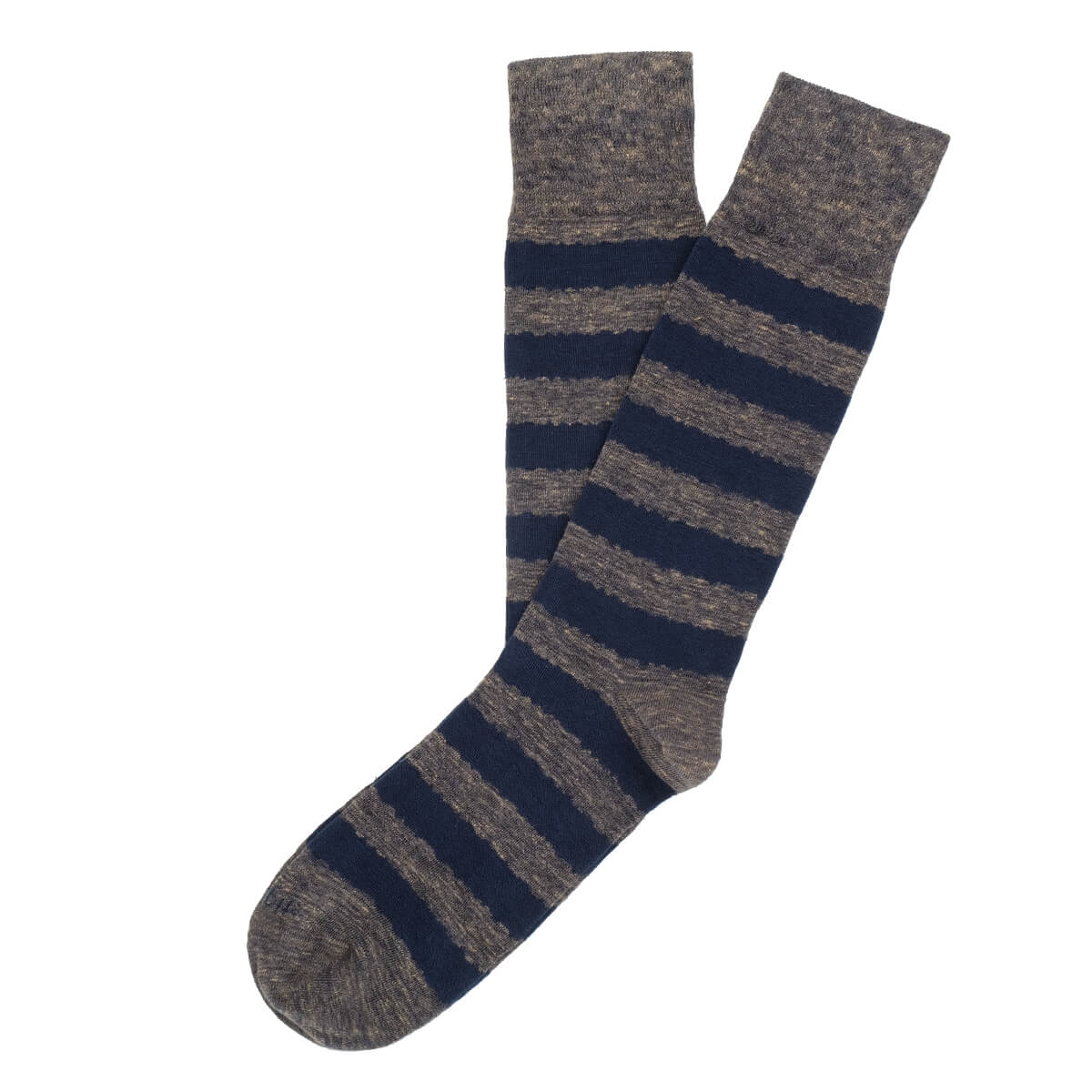 Mens Socks - Iona Stripes Men's Socks - Brown⎪Etiquette Clothiers
