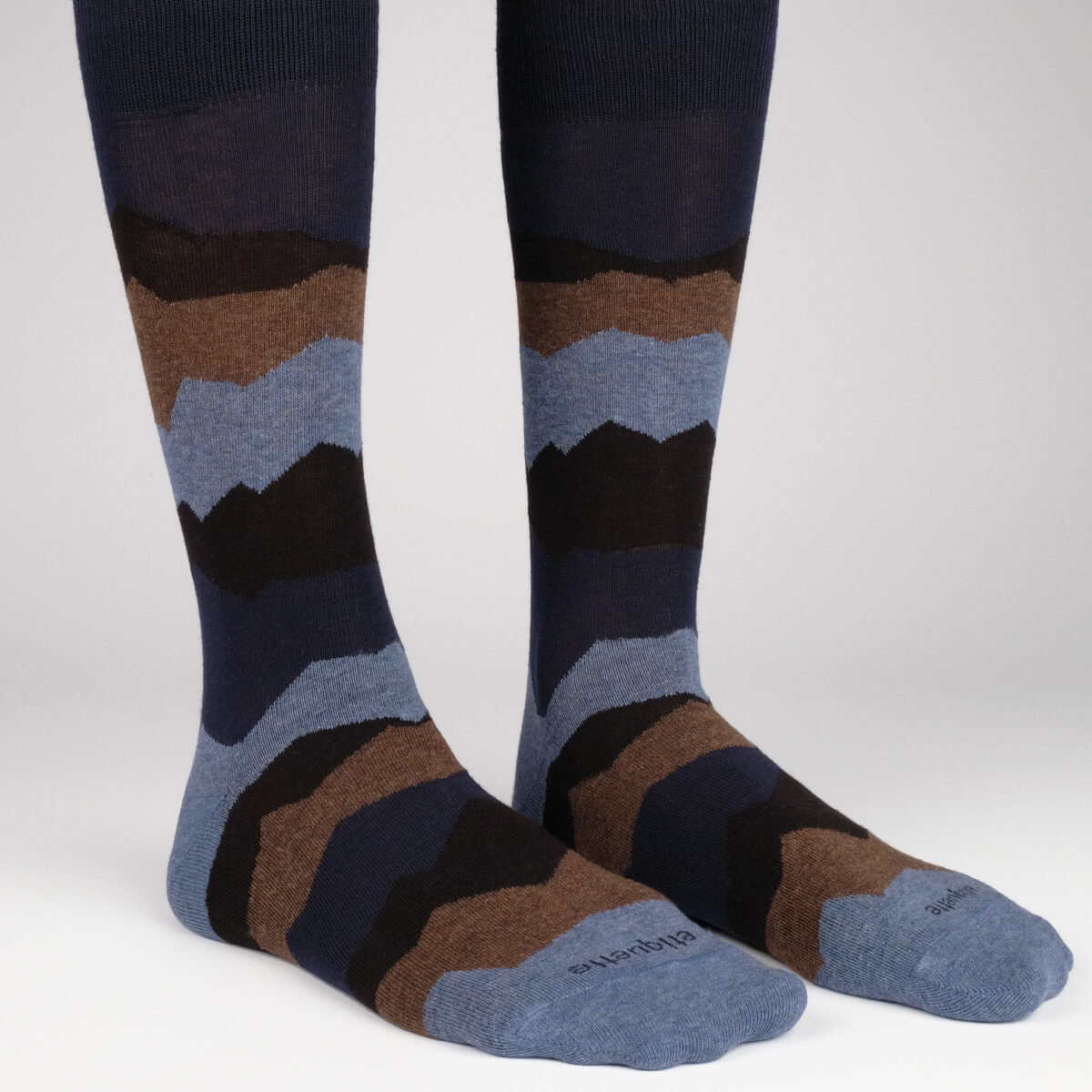 Mens Socks - Seismic Men's Socks - Dark Blue⎪Etiquette Clothiers