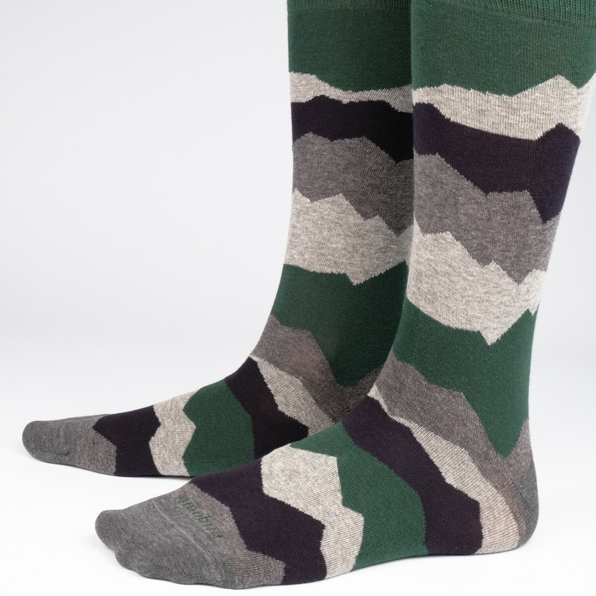 Mens Socks - Seismic Men's Socks - Green⎪Etiquette Clothiers