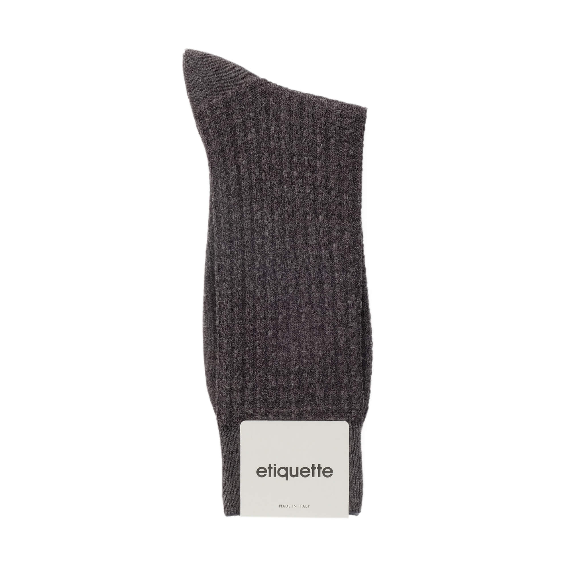 Mens Socks - Hounds Waffle Textured Men's Socks - Grey⎪Etiquette Clothiers