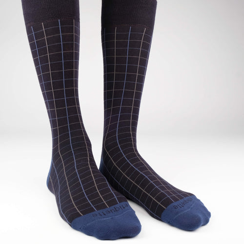 Windowpane Men's Socks  - Alt view