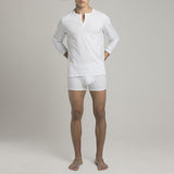 Mens Underwear - Men's Crosby Henley - White⎪Etiquette Clothiers