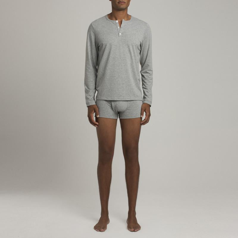 Mens Underwear - Men's Crosby Henley - Grey⎪Etiquette Clothiers