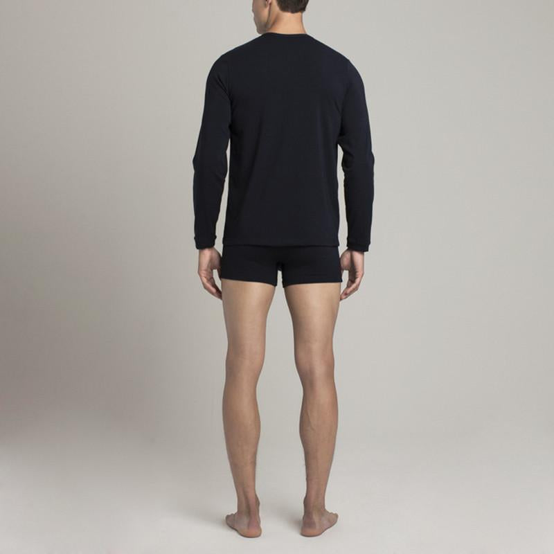 Mens Underwear - Men's Crosby Henley - Dark Blue⎪Etiquette Clothiers