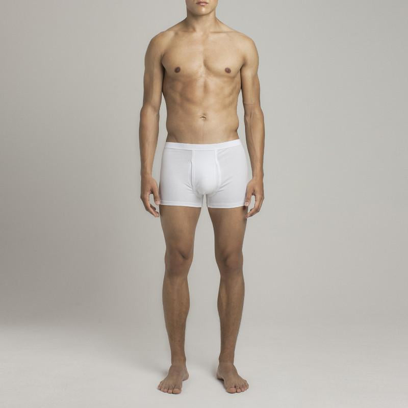 Mens Underwear - Men's Bond Trunks - White⎪Etiquette Clothiers