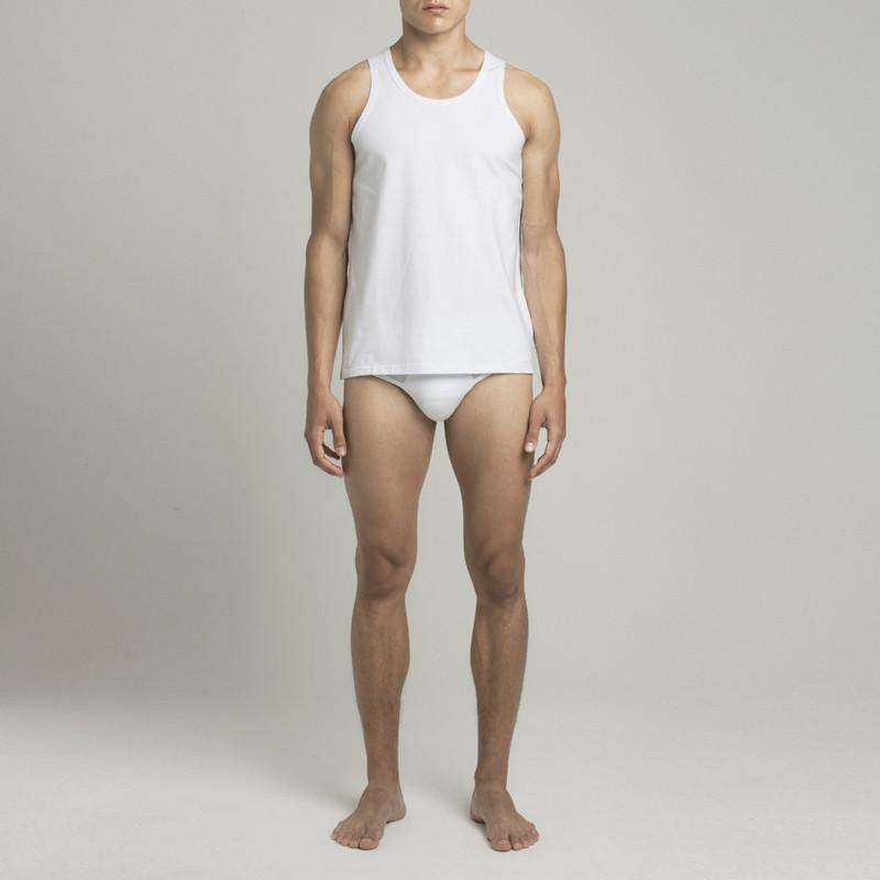 Mens Underwear - Men's Bowery Tank Top - White⎪Etiquette Clothiers