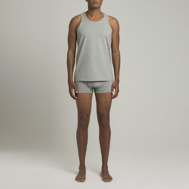 Mens Underwear - Men's Bowery Tank Top - Grey⎪Etiquette Clothiers