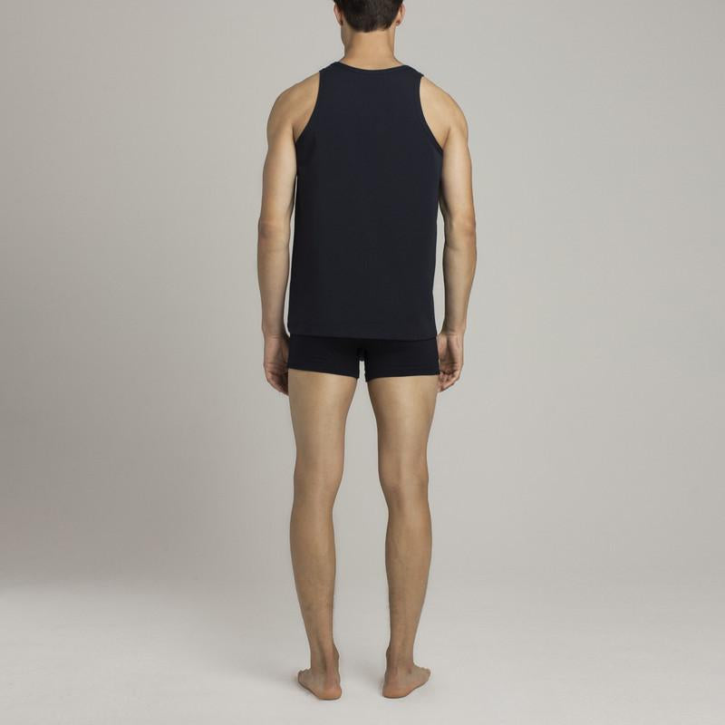 Mens Underwear - Men's Bowery Tank Top - Dark Blue⎪Etiquette Clothiers