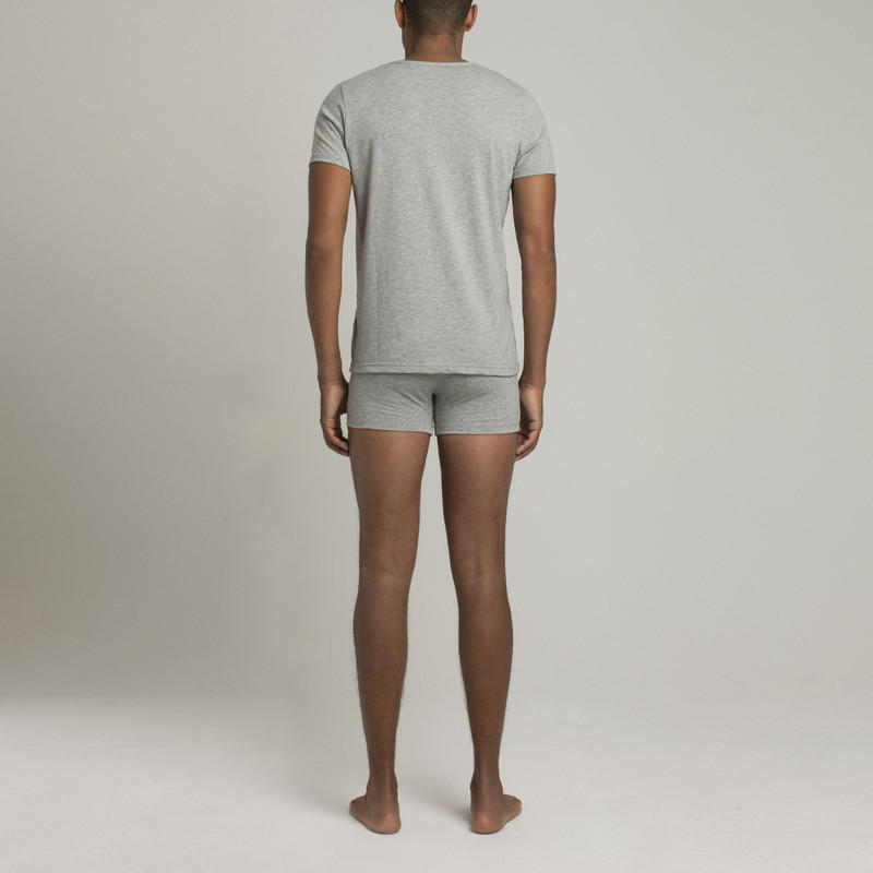 Mens Underwear - Men's Mulberry V Neck T Shirt - Grey⎪Etiquette Clothiers