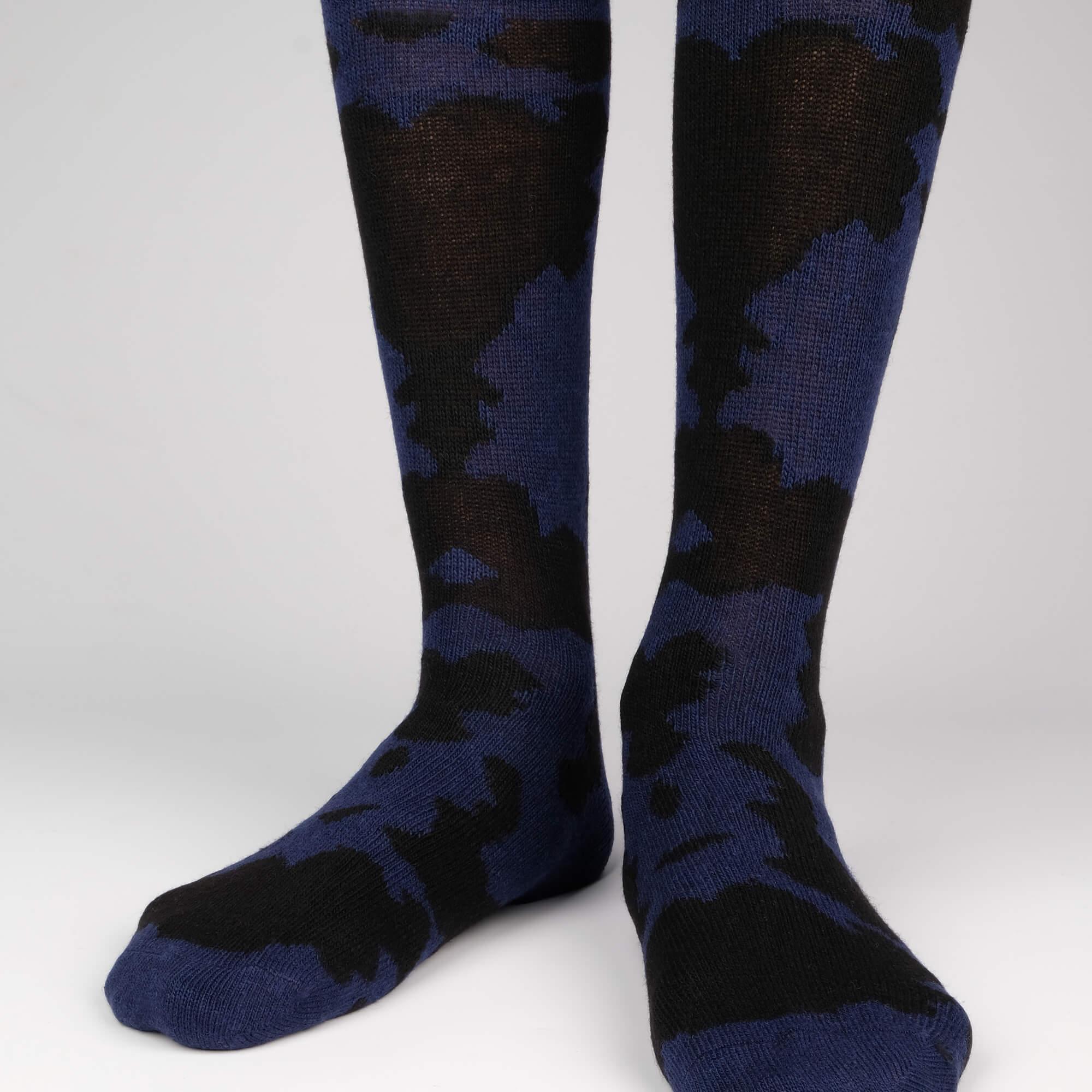 Mens Socks - Cashmere x Merino Camouflage Men's Socks - Blue⎪Etiquette Clothiers