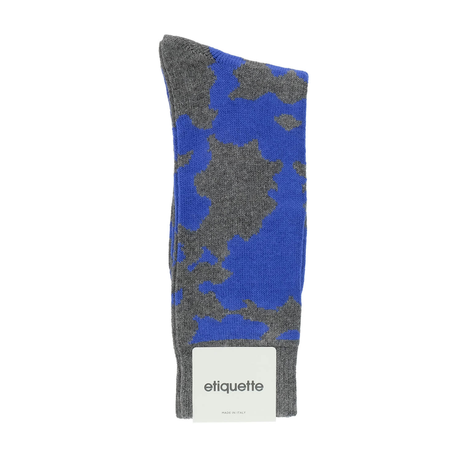 Mens Socks - Cashmere x Merino Camouflage Men's Socks - Dark Grey⎪Etiquette Clothiers